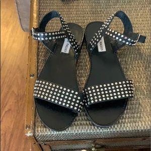Steve Madden Black Studded Sandals